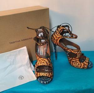 Tabitha Simmons Leather Sandal Heels